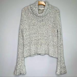 Free People Cable Knit Cowl Neck Sweater Size Large